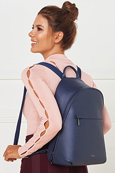 Plume Elegance Medium Round Backpack